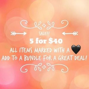 🖤🖤🖤 5 for $40 🖤🖤🖤 everything marked with 🖤